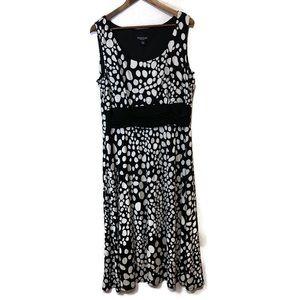 Perceptions New York women's dress 18 black cream